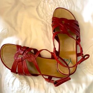 YuYu Alottie open toed red sandals